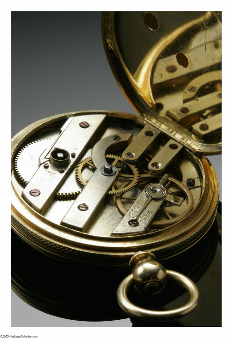 The watch, being sold with documentation for $175,000, is a fine example of mid-19th century watchmaking.