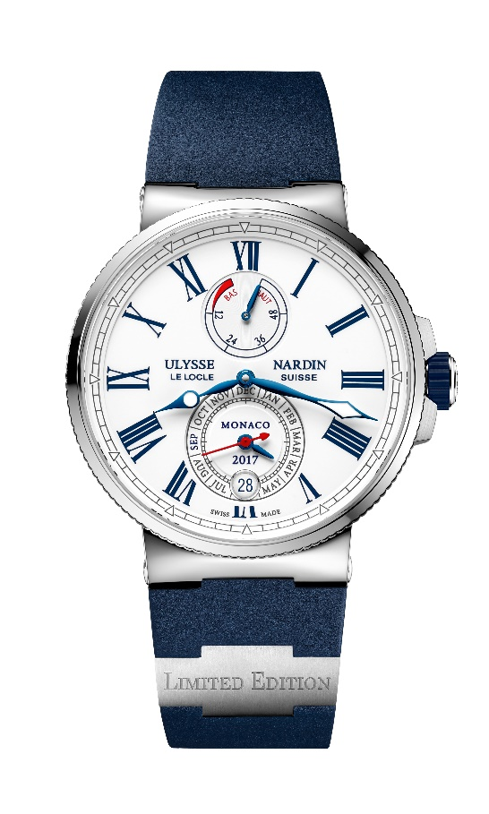 In honor of its ninth year as an official sponsor of the Monaco Yacht Show, Ulysse Nardin unveils limited edition Marine Chronometer Annual Calendar Monaco watch.