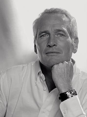 Paul Newman wearing his Rolex Daytona