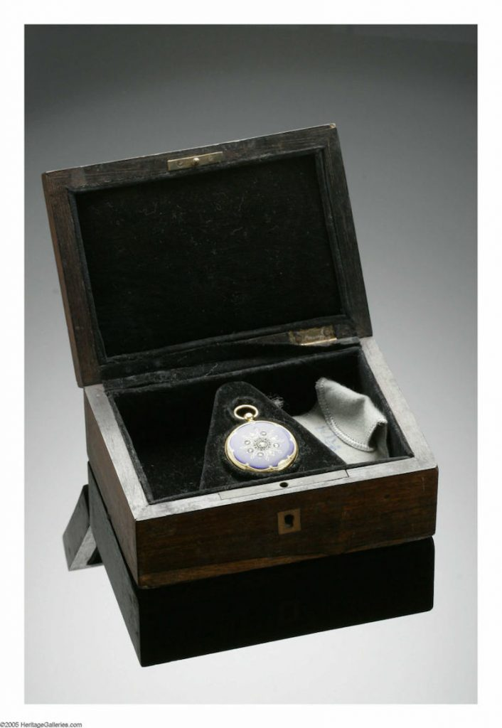 The watch, which Lincoln never gave to Mary Todd, is for sale with original box and gifting letter.