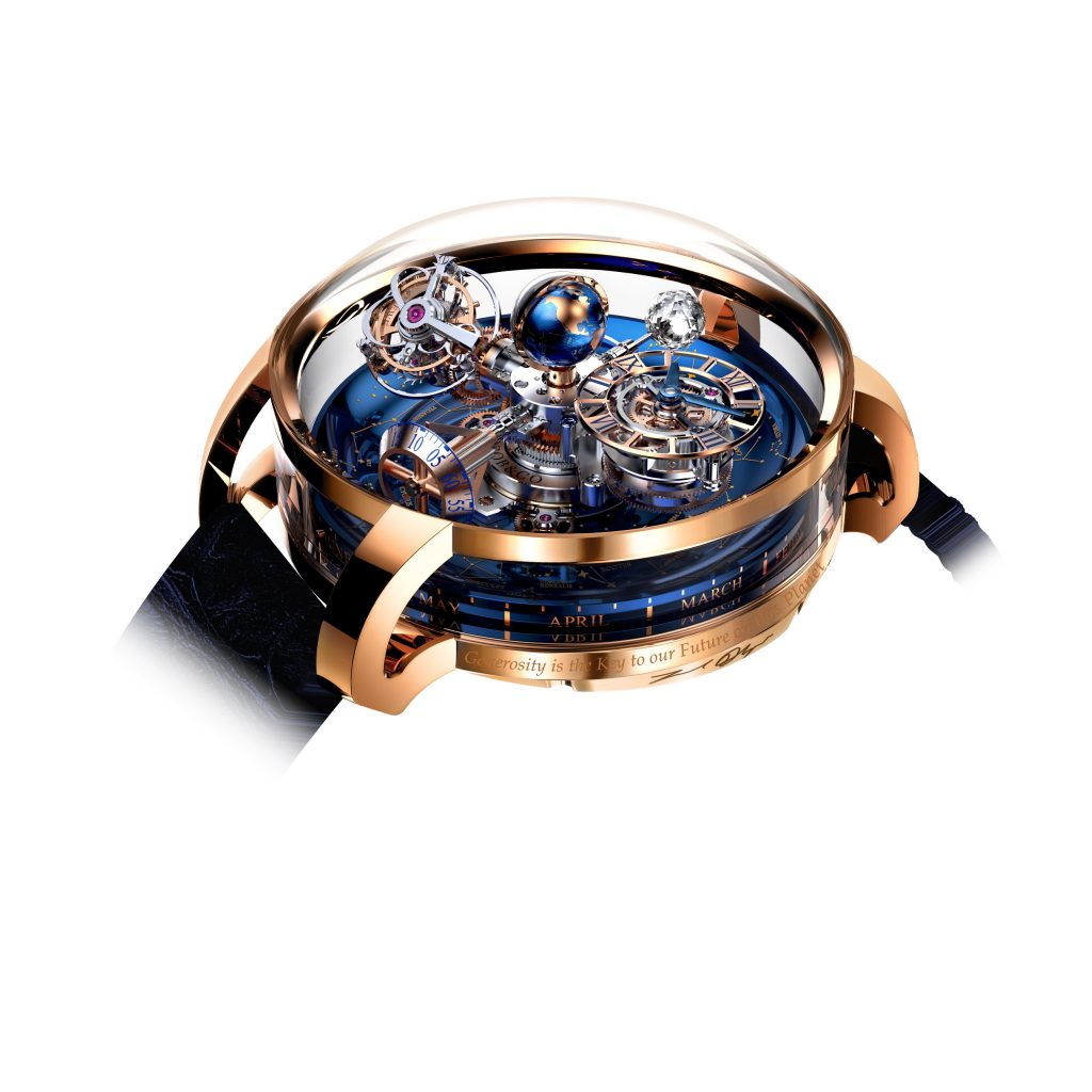 Jacob & Co. Astronomia Sky watch that was auctioned at the Leonardo DiCaprio Foundation event for more than $750,000.