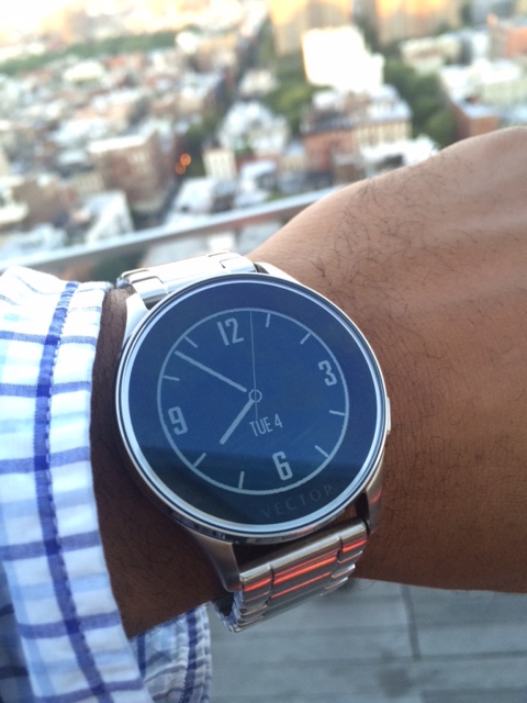 The Vector watch looks pretty good with a suit, too