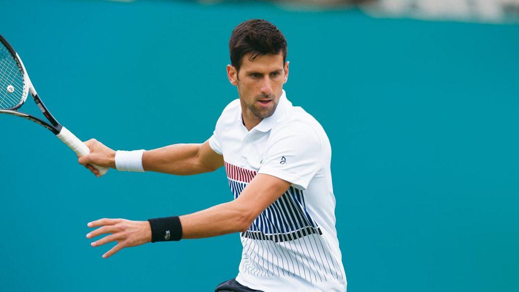 Novak Djokovic takes the Grand Slam title at Wimbledon 2018. He is a Seiko brand ambassador.