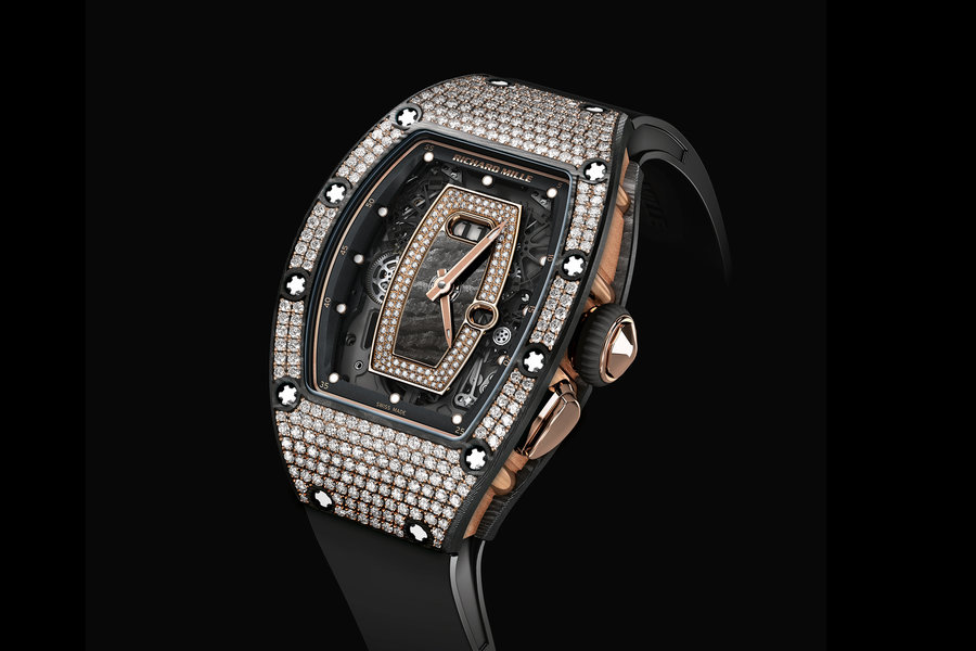 Richard Mille RM037 NTPT(R) Carbon Set women's watch as seen at SIHH 2017.