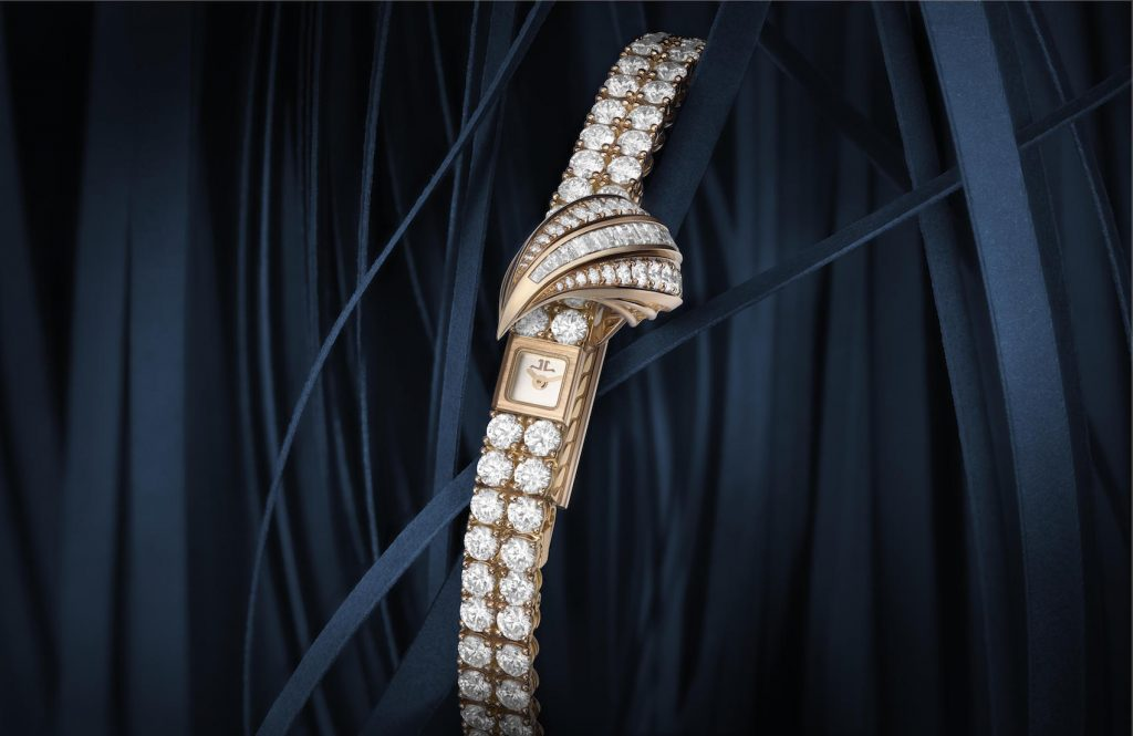 Jaeger-LeCoultre Joaillerie 101Feuille 2018, Mostra, houses the famed Caliber 101.