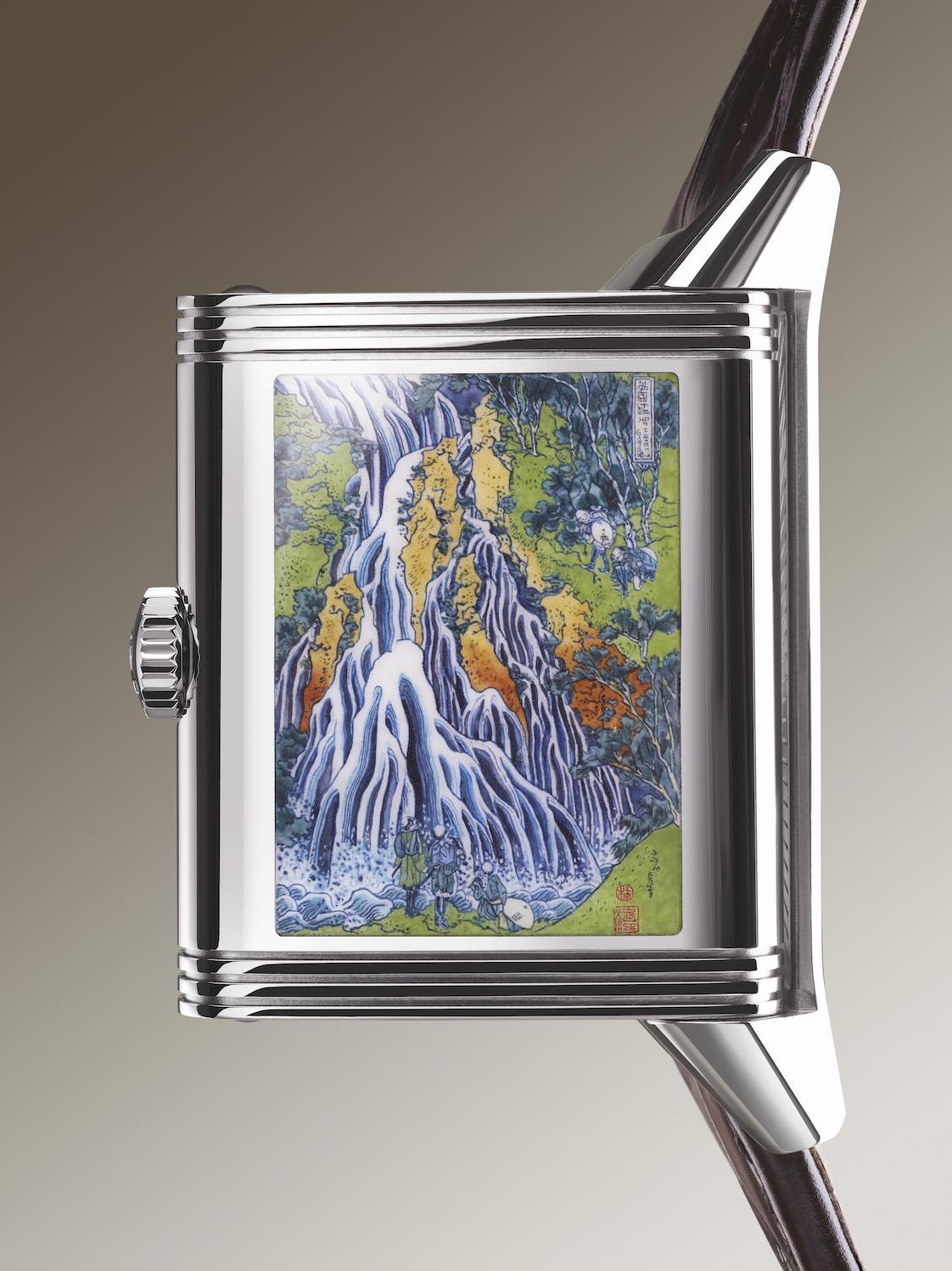 Jaeger-LeCoultre Reverso Tribute Enamel Hokusai Waterfall Watch