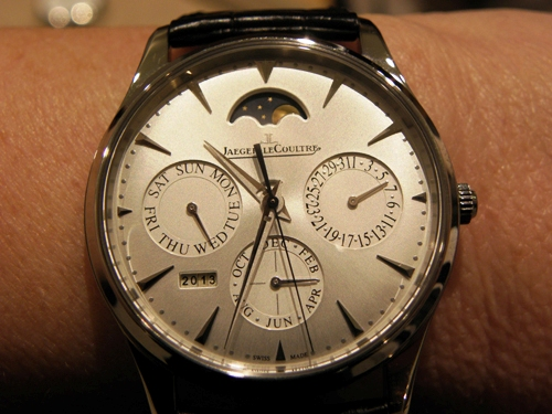 Crafted in steel, the Jaeger-LeCoultre Master Ultra-thin Perpetual Calendar retails for less than $20,000.