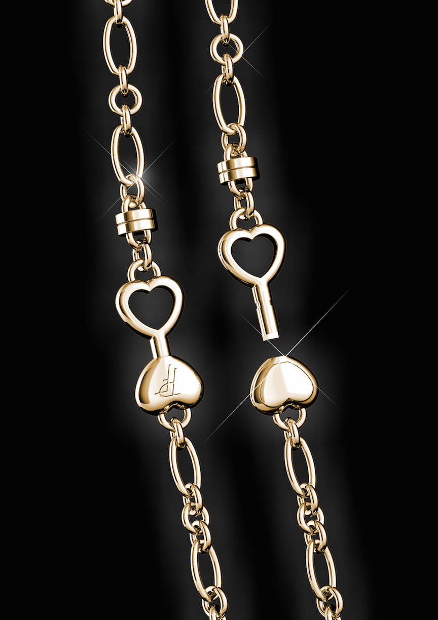 The Paul Forrest Heart's Passion jewelry collection's movement is wound via a key winding system.
