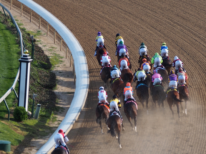 Keeping Time exciting - at the recent Kentucky Derby