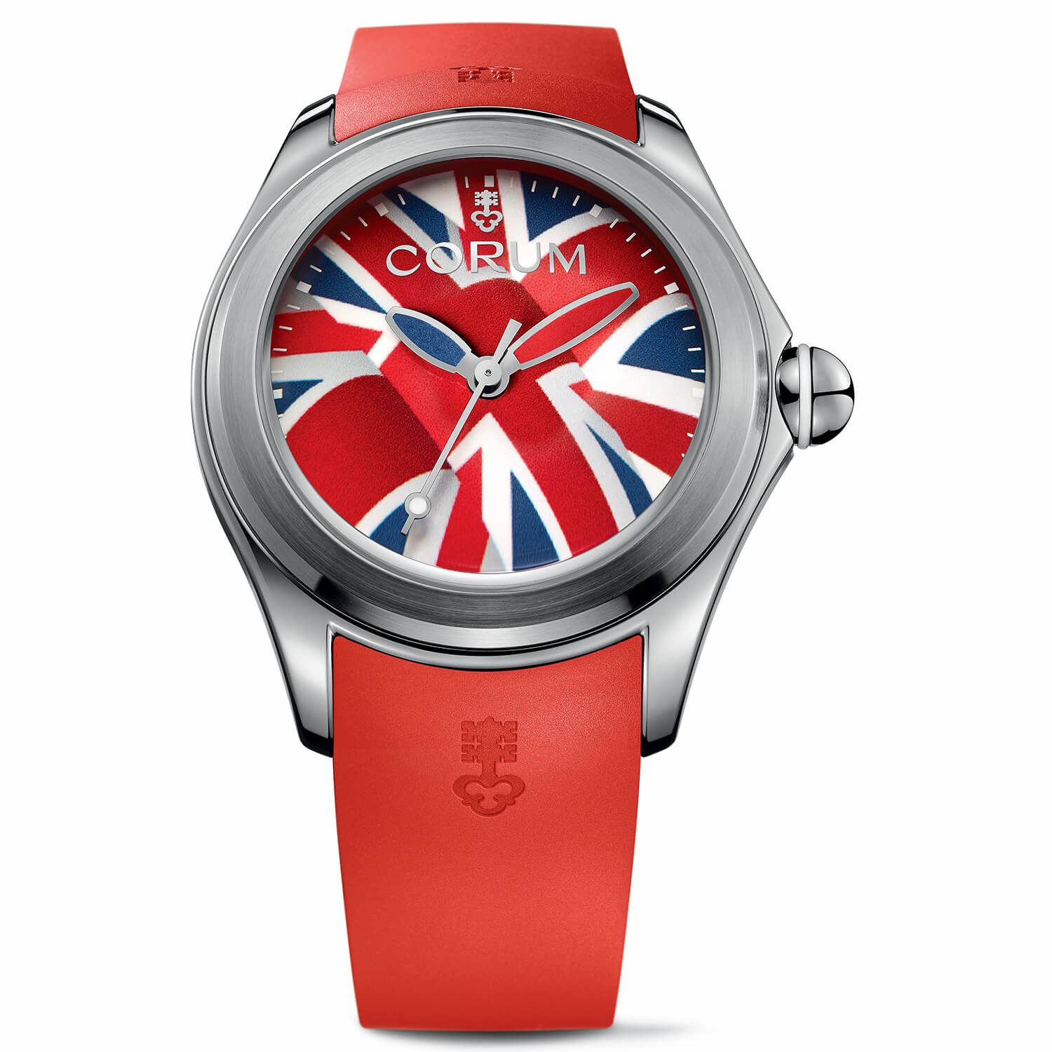 A variation of the Corum Bubble 47 Flag watch.