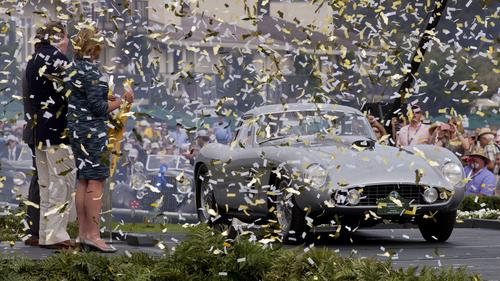 1954 Ferrari 375 MM Scaglietti Coupe, owned by Jon Shirley won the best of show at the 2014 Pebble Beach Concours d'Elegance on Sunday afternoon. Photo c:  Peter DaSilva / For the Times