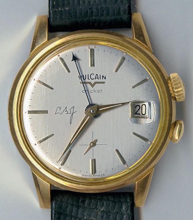 Lyndon Baines Johnson's Vulcain Cricket watch