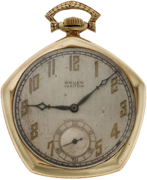 The VeriThin Pentagon watch was first introduced in 1922 by Gruen.