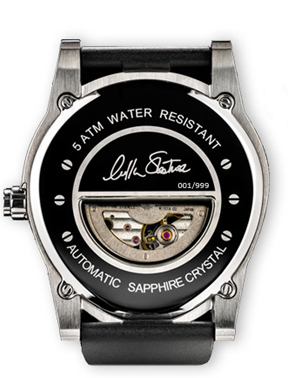 The back of the Passages watch is engraved with William Shatner's signature.