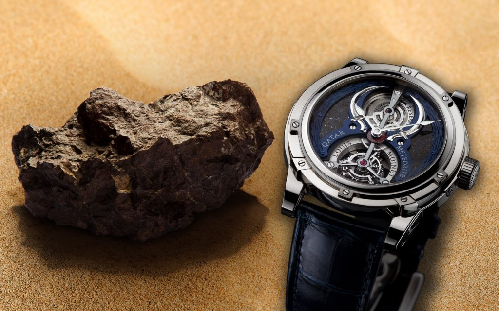 Louis Moinet Qatar Tourbillon meteorite watch