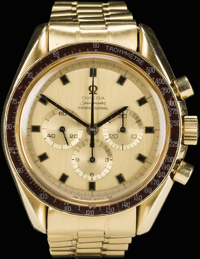 Lot 141, Alan Bean Omega Speedster Professional Watch, sold for $xx at Bonhams' auction yesterday.