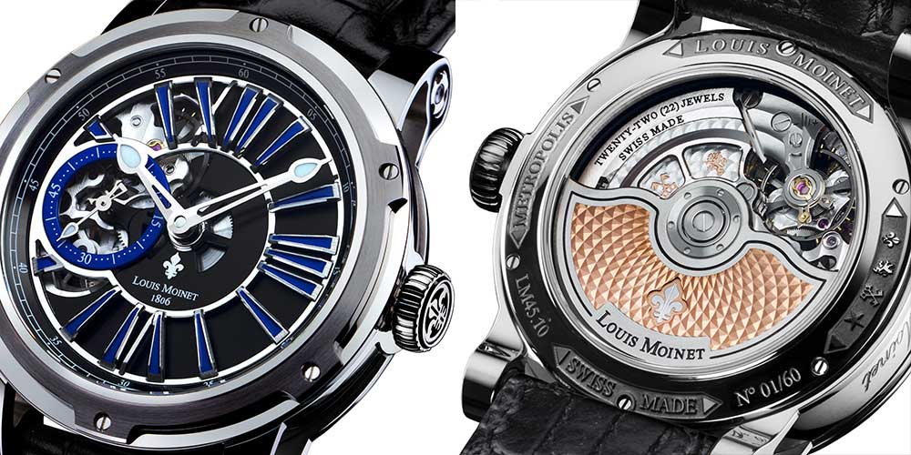 Louis Moinet Metropolis in steel retails for about CHF 10,900