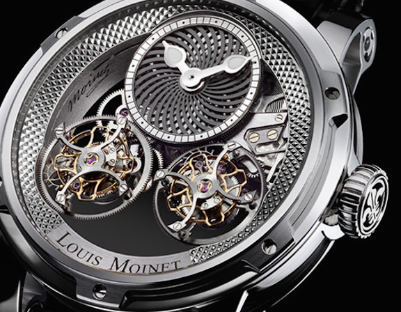 Louis Moinet Mobiles features a double flying tourbillon and center kaleidoscope automaton