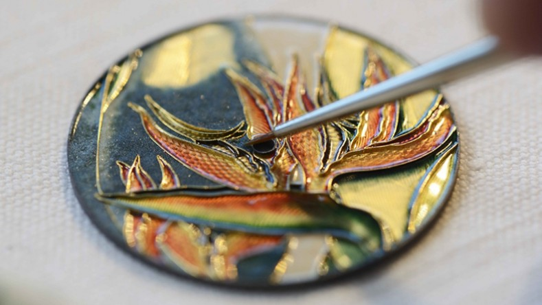 hand enameling is one of the stronger Metiers d'Arts techniques.