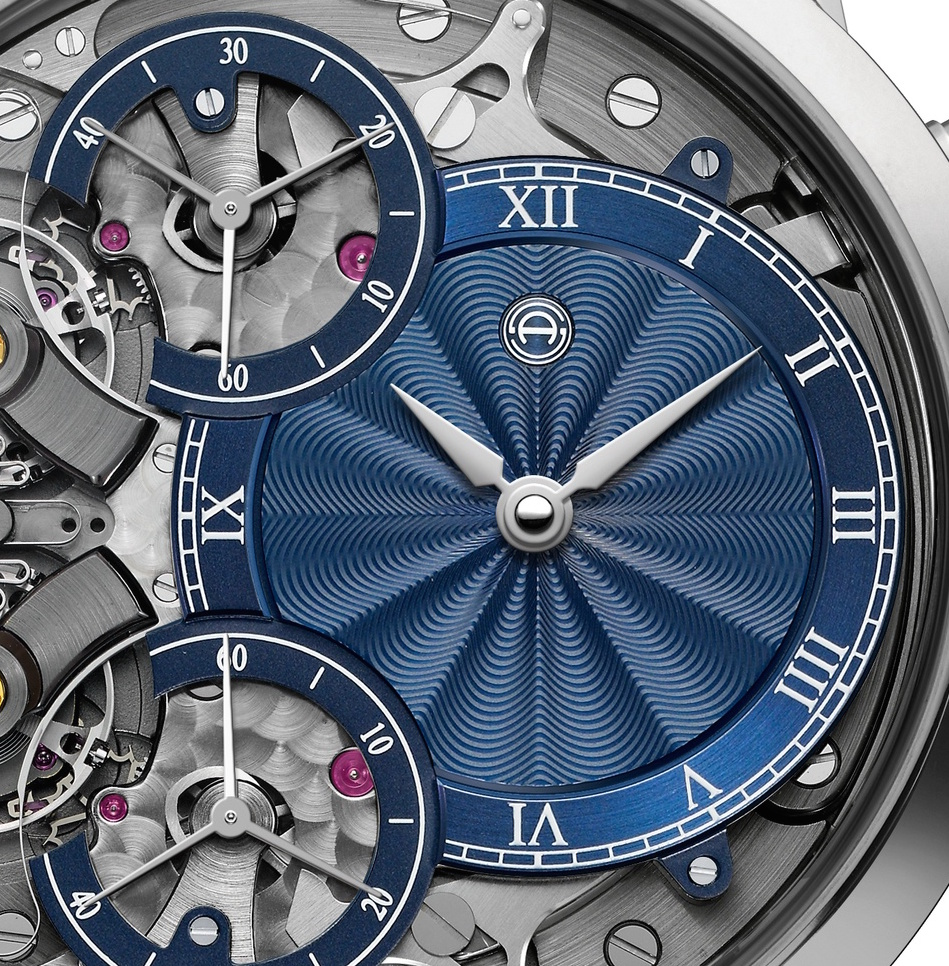 Kari Voutilainen joins with Armin Strom to create hand-made guilloche' dials for the Mirrored Force Resonance Guilloche' watches - with different colors and patterns.