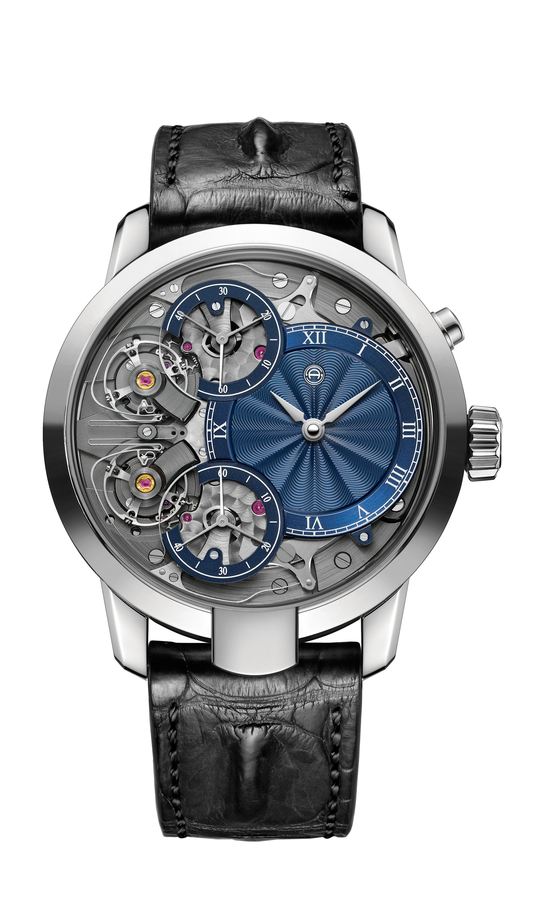 Armin Strom Mirrored Force Resonance with guilloche' dial by Kari Voutilainen.