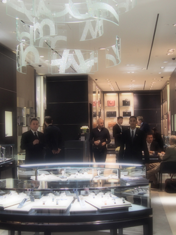 Lambert recently officiated at the opening of the  new Montblanc boutique is on Madison Avenue around 57th street.