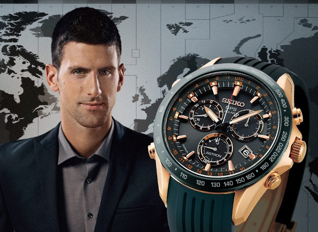 Novak Djokovic is a Seiko brand ambassador and is going for the top title today at the US Open Tennis Championships