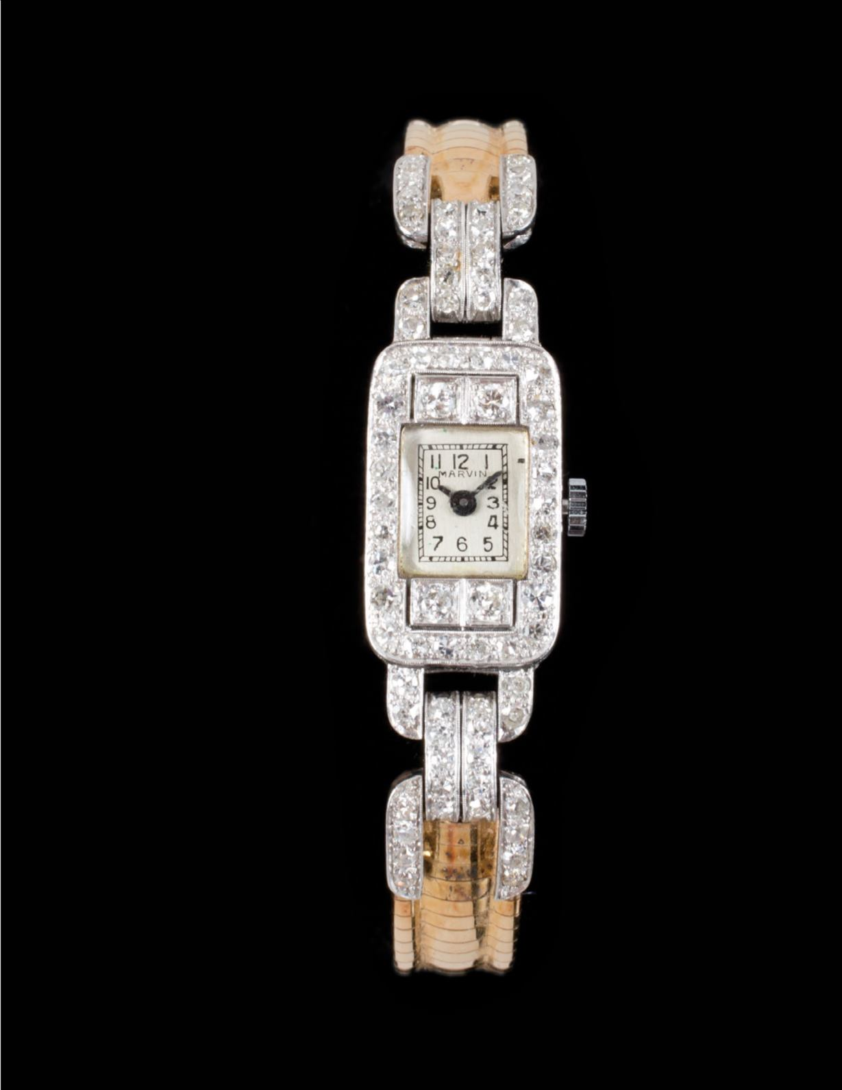 A diamond watch owned by Marilyn Monroe, with movement by Marvin, is also up for sale.