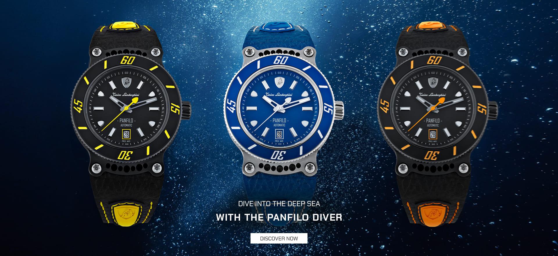 Tonino Lamborghini Panfilo Diver watches.