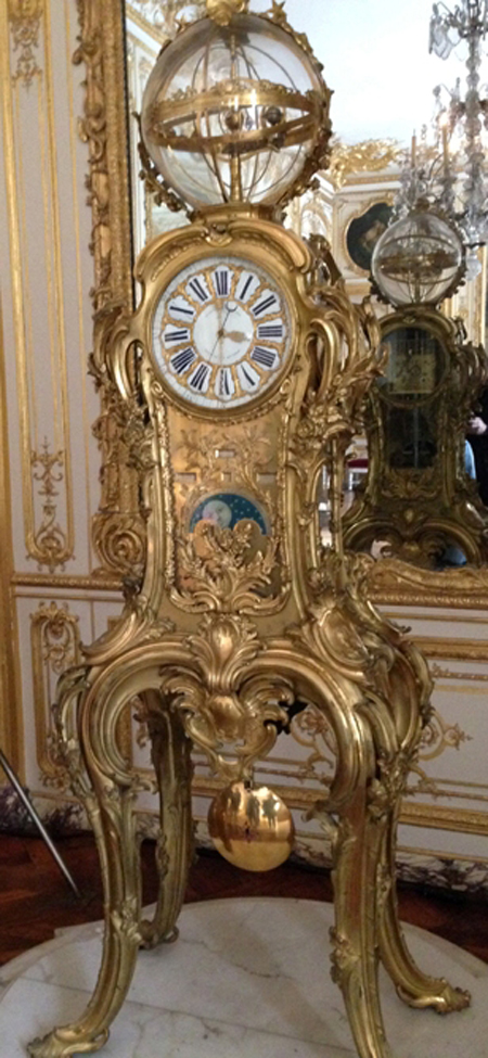 Astronomical clock created in the 18th century by Passemant said to be accurate to the year 10000. Movement made by Dauthiau.