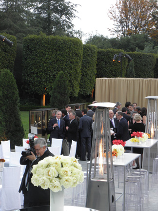 The gardens of the mansion, where the event took place.