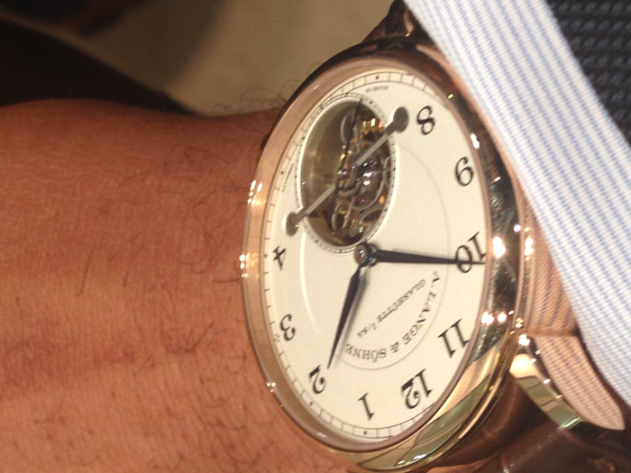 A. Lange & Sohne 1815 Tourbillon on the wrist