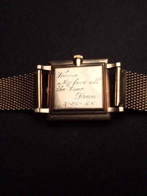 Dad's Omega, engraved caseback