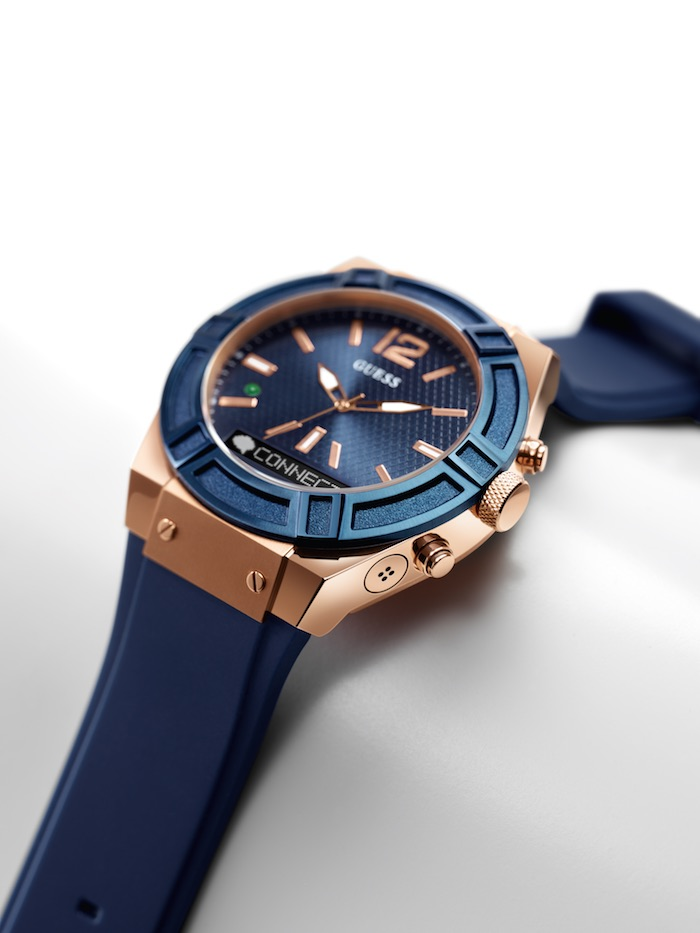 A Closer Look at the Blue and Rose Gold Guess Connect