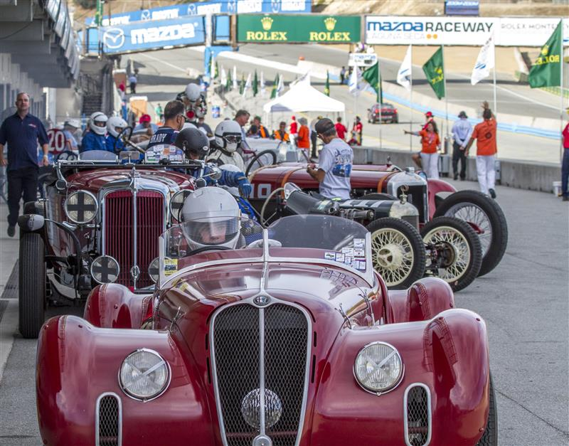 In the pits at the Rolex Monterey Motorsports Reunion. Photo: Rolex, Scott Cooper