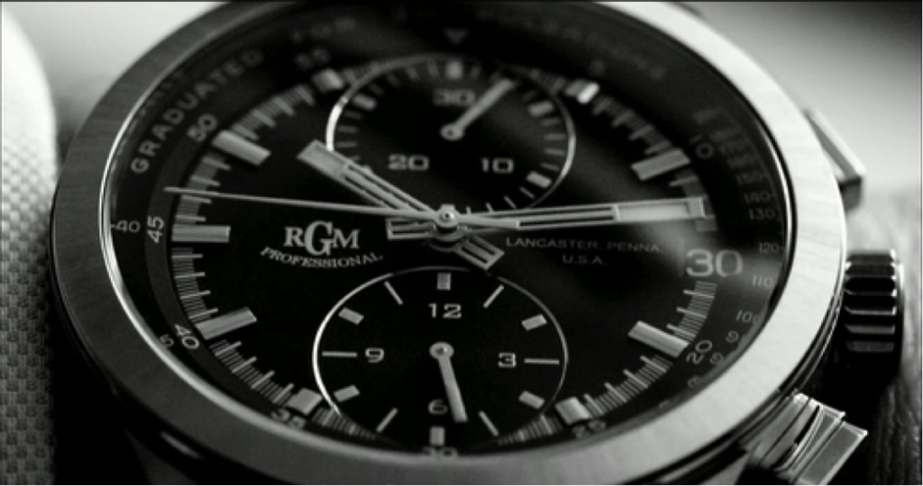 RGM Model 400 Chronograph as seen in the commercial