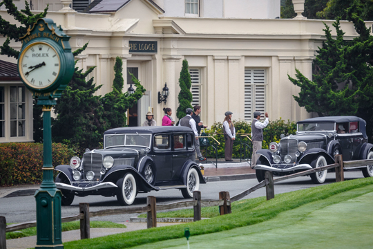 Pulling up to The Lodge at the Pebble Beach Concours D'Elegance 2015.