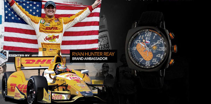 Ryan Hunter Reay is a brand ambassador for Ritmo Mundo and wears the Indy watch.