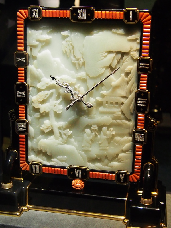 Carved clocks by Cartier are an integral part of the brand history. This one is circa 1926. MERA