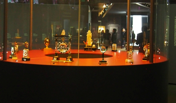 The exhibit boasts more than 20 Cartier Mystery clocks.