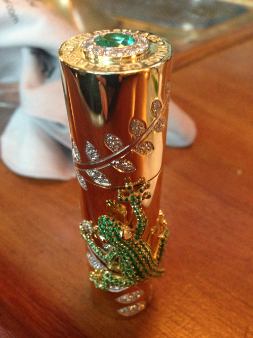 One of a kind Perfume bottle from House of Sillage -- set with 665 gemstones.