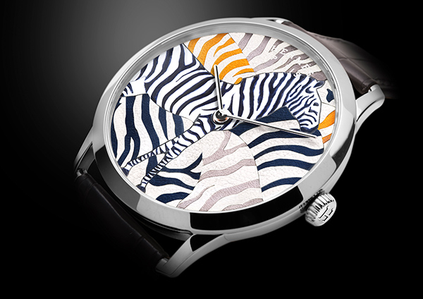 Hermes Slim d'Hermes Les Zebres de Tanzanie Marquetry Watch