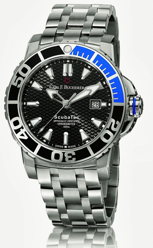 The Carl F. Bucherer Patravi ScubaTec watch is all about function, with helium escape valve and 500 meters water resistance.