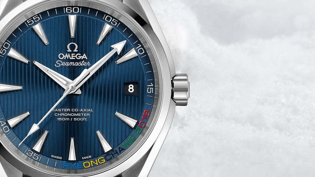 The Omega Seamaster Aqua Terra Pyeongchang 2018 Watch.