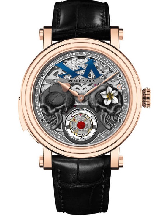 Speake-Marin double skull tourbillon watch