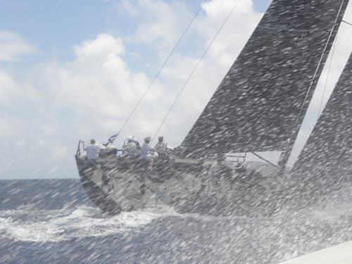 The last day of the regatta was a windy one with high seas and lots of action