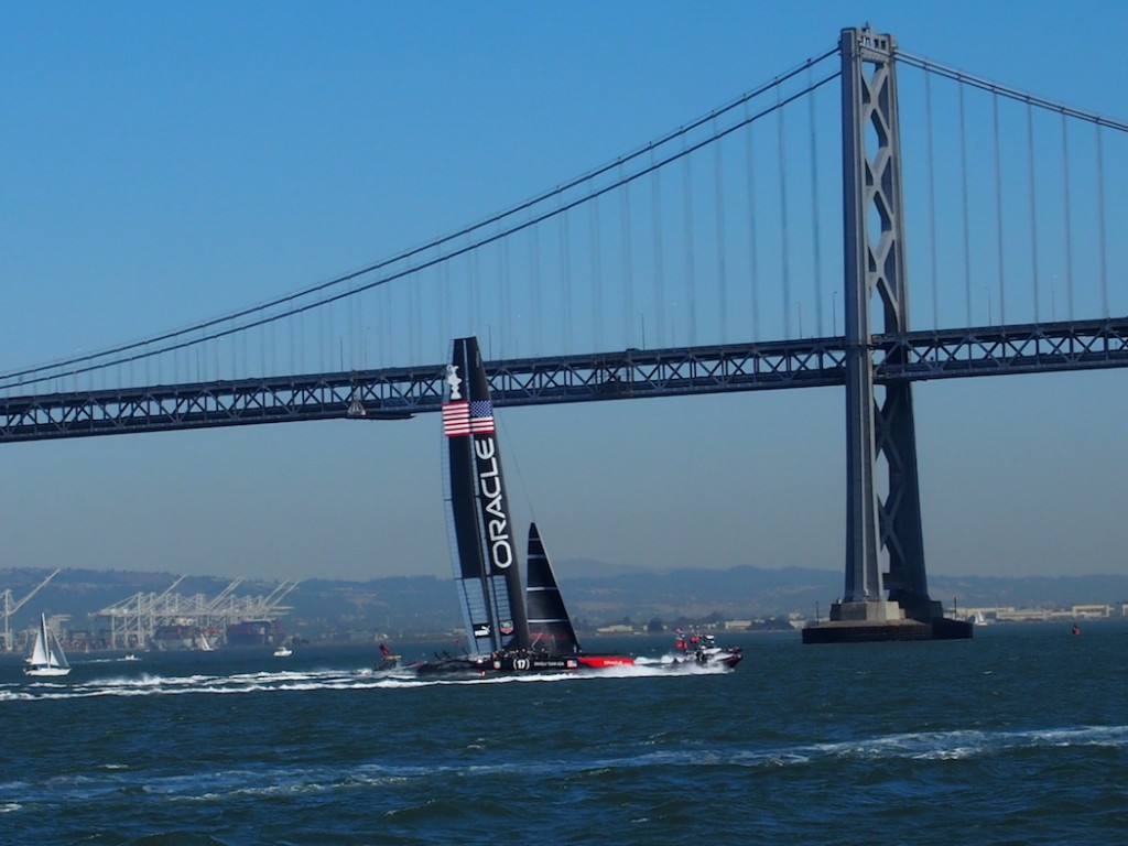 34th America's Cup sailing in San Francisco in 2013 (photo C. R. Naas)