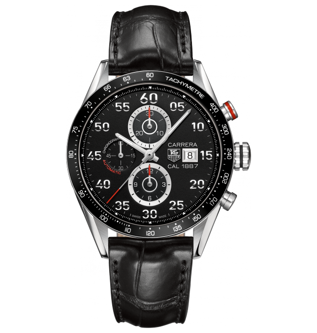 TAG Heuer Carrera 1887 watch, inspired by auto racing