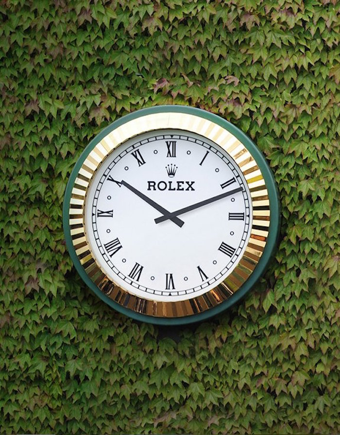Rolex is the Official Timekeeper of Wimbledon (photo: courtesy of Rolex)