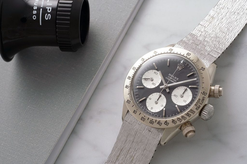 "Unique white gold Rolex Daytona, ""The Unicorn"" Ref. 6265 goes up for Auction with Phillips"